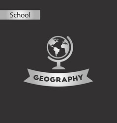 black and white style icon geography lesson vector image vector image