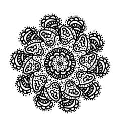 Black hand draw mandala vector