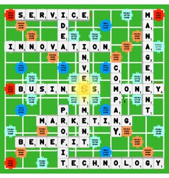 Business scrabble vector