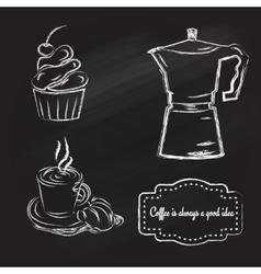 coffeetime set vector image vector image
