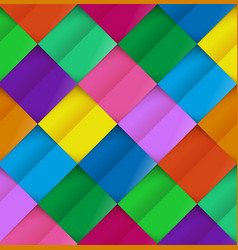 Colorful paper pattern on background colored vector