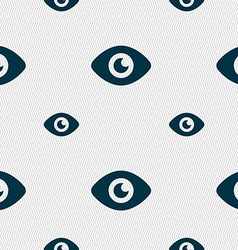 Eye publish content icon sign seamless pattern vector
