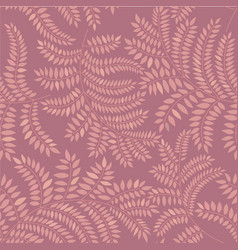 Floral leaves pattern seamless background nature vector