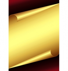 golden paper background vector image vector image