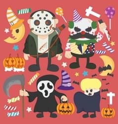 Halloween set infographic elements of jokermurderb vector