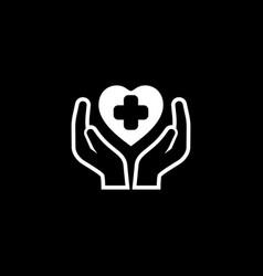 health care center icon flat design vector image