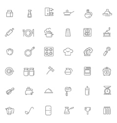 icon collection - kitchen tools and utensils vector image vector image
