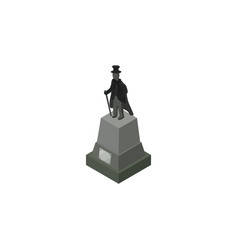 Isolated statue isometric sculpture vector