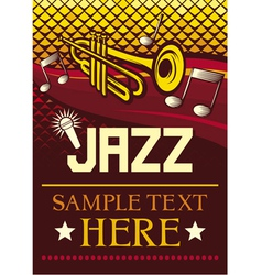 jazz poster vector image vector image