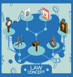 law color isometric concept icons vector image vector image