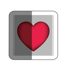 Love card with heart vector