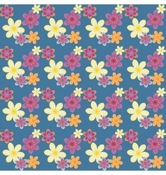 Multicolored floral pattern vector image