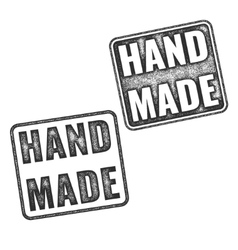 Realistic handmade grunge rubber stamps vector