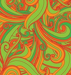 retro floral pattern vector image