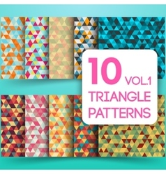 Set of colorful triangle backgrounds vector