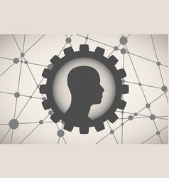 Silhouette of a mans head vector
