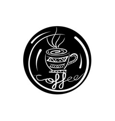 silhouette pattern coffee ethnic vector image