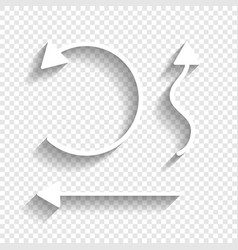 Simple set to interface arrows white icon vector