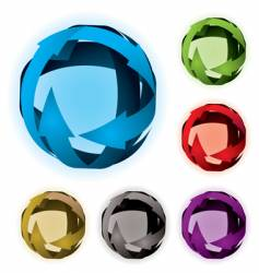 variation arrow ball vector image vector image