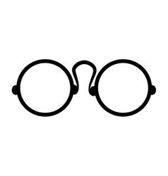 Vintage googles lens vector