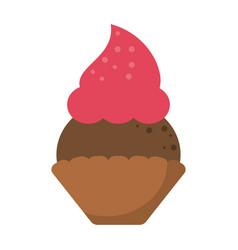 Women day cupcake dessert sweet vector