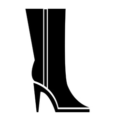 Women winter boots icon simple style vector