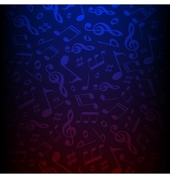 Isolated dark color musical notes vector image