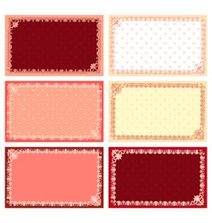 Lacy cards vector