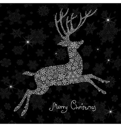 Christmas deer silhouette vector