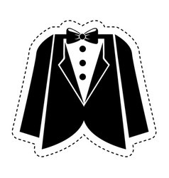 Wedding male suit icon vector