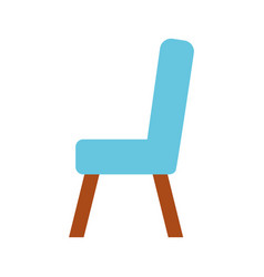 wooden chair isolated icon vector image