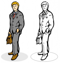 man with briefcase vector image