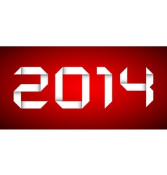 2014 Happy new year card red background vector image vector image
