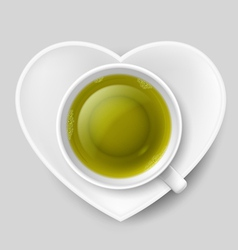 Romantic tea drinking vector