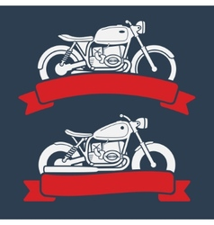 Retro motorcycle logo set vector