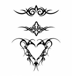 Tribal wings set vector