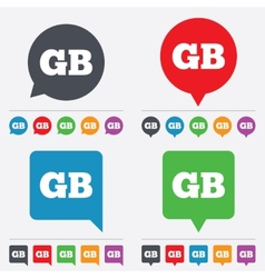 British language sign icon gb translation vector