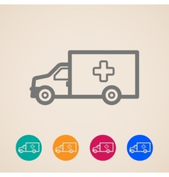 Ambulance car icons vector