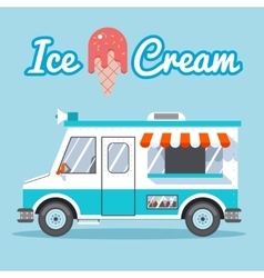 Ice cream truck vector