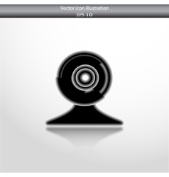 Web cam icon vector