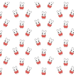 Bunny pattern vector