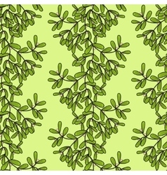Seamless pattern with vertical mistletoe twigs vector