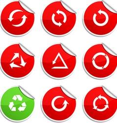 Arrows stickers vector