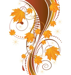 Autumn ornament with maple leaves2 vector image vector image