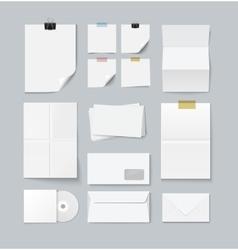Branding set of paper templates vector