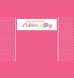 Children day background style art vector