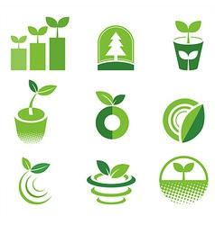 greenIcon vector image vector image