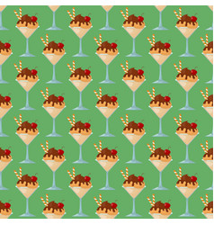 Ice cartoon seamless pattern background colorful vector