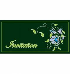 Invitation floral frame vector
