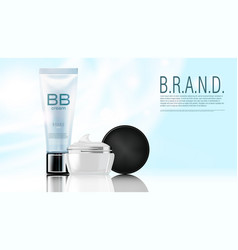 light cosmetics product advertising vector image